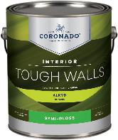 PAINTSTOP LLC Tough Walls Alkyd Semi-Gloss forms a hard, durable finish that is ideal for trim, kitchens, bathrooms, and other high-traffic areas that require frequent washing.boom